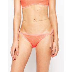 Butterfly By Matthew Williamson Sequin Bikini Bottoms (10 CAD) ❤ liked on Polyvore featuring swimwear, bikinis, bikini bottoms, multi, embellished bikini, beaded bikini, hipster bikini bottom, hipster bikini and print bikinis
