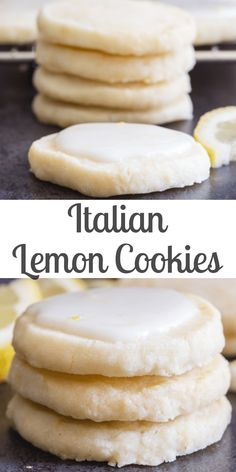 Perfect melt in your mouth Lemon Cookies If you love anything lemon then you are going to love these cookies Light and easy to make with a tasty lemon glaze they are sure to satisfy any lemon lover lemoncookies cookies shortbreadcookies Italiancookies Easy Cookie Recipes, Sweet Recipes, Italian Cookie Recipes, Recipes With Lemon, Cookie Ideas, Lemon Dessert Recipes, Desserts With Lemon, Easy Recipes For Desserts, Lemon Recipes Baking