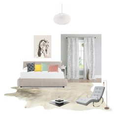 """Quarto"" by megeller ❤ liked on Polyvore featuring interior, interiors, interior design, home, home decor, interior decorating, Duck River Textile, Design Within Reach, Nina Kullberg and Home Decorators Collection"