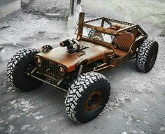 not what to call this... steampunked rat rod rock crawler buggy sled Jeep Wrangler