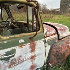 Old abandoned truck in rural central Illinois field. Photograph by Stephen Parfitt, Springfield Illinois.