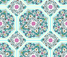 Persian Tile ~ Spring Break fabric by peacoquettedesigns on Spoonflower - custom fabric/wallpaper/gift wrap