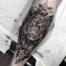 tribal boar tattoo tattoo design pinterest tattoo tatting and rh pinterest com wild boar skull tattoos wild boar hog tattoos
