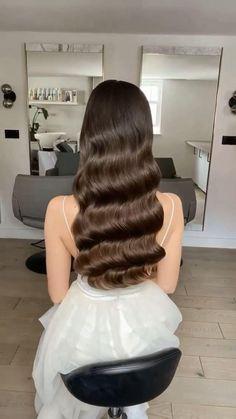 Bridal Hair Down, Wedding Hair Down, Wedding Hair And Makeup, Vintage Waves Hair, Vintage Wedding Hair, Bride Hairstyles, Vintage Hairstyles, Down Hairstyles, Bridal Waves