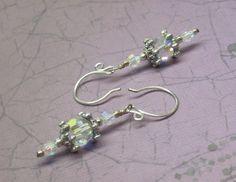 A Winter Ice Storm III Swarovski Crystal Earrings | JewelryByLis - Jewelry on ArtFire