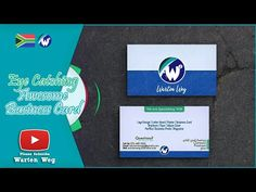 How To Design An Eye Catching Awesome Business Card In Photoshop Cool Business Cards, Start Up Business, Youtube Thumbnail, Free Ebooks, Logo Branding, Album Covers, Brand Names, Photo Editing, How To Become