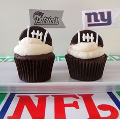 I love Nicely Done Cupcakes and the NY Giants Cupcakes she make for us for the BIG WIN!!!