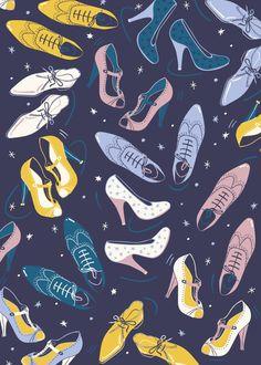Vintage Fashion Patterns by Paula McGloin, via Behance