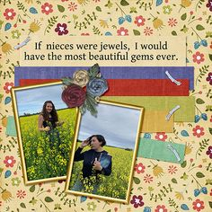 Our lovely nieces. Shooting Stars, Digital Scrapbooking, Layouts, Display, Baseball Cards, Creative, Life, Beautiful, Design