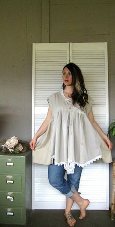 Romantic French dress rustic Magnolia Pearl by lillienoradrygoods, $69.50