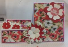 Hand made flowery step card