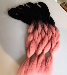 new fashion ombre pale pink box braids