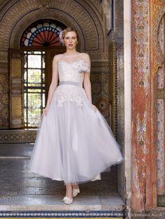stephanie allin 2013 masquerade tea length wedding dress