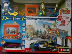 Bburago - Garage Street Fire Digi Town Interactive Playset 1:43 (18-30065)  Manufacturer: Bburago Barcode: 4893993300655 Enarxis Code: 014637 #toys #miniature #garage Auto Service, Garage, Miniatures, Coding, Fire, Animation, Street, Toys, Carport Garage