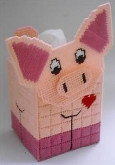 Everything Plastic Canvas - Pig Tissue Topper