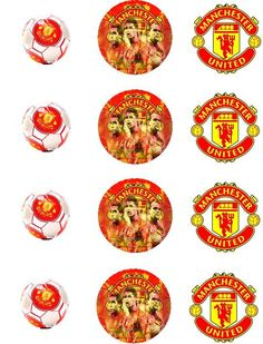 Manchester United edible cupcake toppers  12x2inch by ZaharibyDina, $11.00
