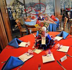 Baseball themed Wedding Centerpiece - Chicago Cubs #baseballwedding