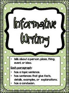 Informative Writing   Poster, Writing posters and Activities