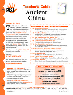 This free Lesson Plan on Kids Discover Ancient China provides a guide to teach kids about this incredible eastern culture, and the many inventions that can be traced back to Ancient China, such as how paper was invented, the birth of medicine, and the only man-made structure viewable from space; Great Wall.
