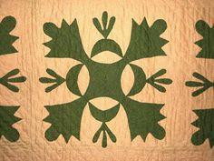Antique Oak Leaf Quilt Early 1860'S | eBay