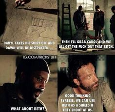 Bwahaha!!! Good plan Rick. *edit I didn't think that she would actually die. :(