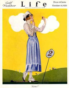 Life Magazine Cover Copyright 1920 Golf Number Fore