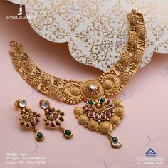 Enrich the legacy in you. Get in touch with us on Gold Necklace Simple, Gold Jewelry Simple, Golden Necklace, Short Necklace, Necklace Set, Bollywood Jewelry, Jewellery Sketches, Necklace Designs, India Jewelry