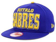 "Buffalo Sabers NHL New Era 9Fifty ""Solid"" Snapback Hat New"