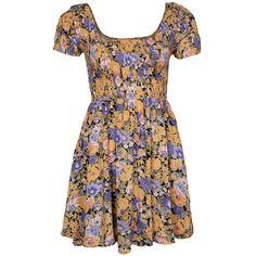 MINKPINK EDEN BEACH Summer dress (320 HRK) ❤ liked on Polyvore featuring dresses, vestidos, yellow, summery dresses, yellow dress, brown dress, summer dresses and brown summer dresses