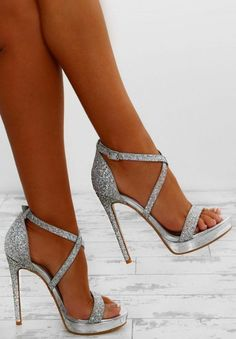 Party Queen Silver Glitter Platform Heels - Prom shoes - Source by shoes silver Silver Glitter Shoes, Silver High Heels, Glitter Heels, Silver Sparkly Heels, Silver Heels Wedding, Silver Shoes Heels, Silver Bridal Shoes, 2 Inch Silver Heels, Silver Formal Shoes