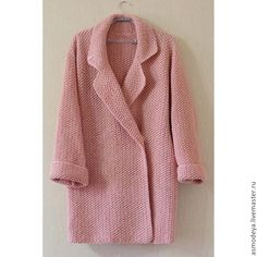 Knitting Patterns Coat Today, when the temperature outside the window suddenly lifted . Crochet Coat, Knitted Coat, Crochet Jacket, Knit Jacket, Crochet Cardigan, Crochet Clothes, Mode Crochet, Crochet Fashion, Knitting Designs