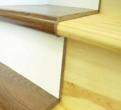 This is such an amazing product... converting carpeted stairs to wood with a kit. Saves time.