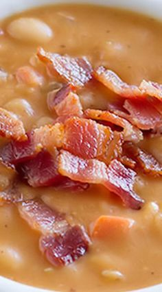 Homemade Bean and Bacon Soup: This was sooo good. Tastes even better the next day!