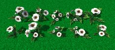 Cartoon style flowers #cartoon #flowers  for #Unity3d