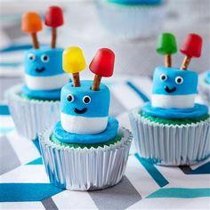 Traktatie Robot Cupcakes