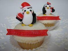 Christmas penguin cupcake decorations - so cute!