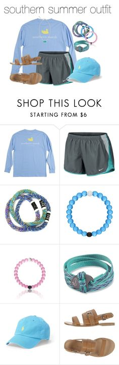 """southern summer outfit"" by prepworld ❤ liked on Polyvore featuring NIKE, Chaco, Polo Ralph Lauren, Gianvito Rossi, Kendra Scott, Summer and fun"