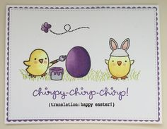 Chirpy Chirp Chirp stamp set from Lawn Fawn. Card by Mocha Frap Scrapper.