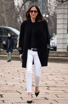 20 Ideas Para Usar Pantalones Blancos En Invierno | Cut & Paste – Blog de Moda