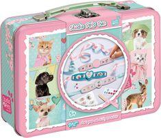 Maak armbandjes met afbeeldingen van schattige jonge poesjes.  Afmeting: 405x630x325 mm - Kitty Bracelets Studio Pets ToTum