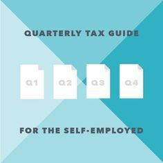 Quarterly business tax guide for freelancers and self-employed. Sounds like a great resource!