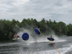 Tubing!  --  reminds me of my brother and I!  Always competing to see who could get the most air!!!  God, I miss him!