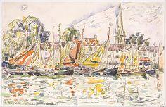 Paul Signac (French, 1863–1935). Le Pouliguen: Fishing Boats, 1928. The Metropolitan Museum of Art, New York. Robert Lehman Collection, 1975 (1975.1.718)