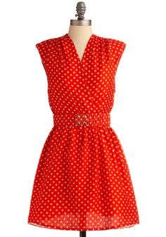 There's a nice red polka dot dress :)