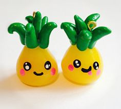 Summer Pineapple Polymer Clay Charm Kawaii by CrownHolderEmporium