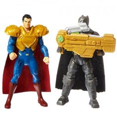 The battle between Batman and Superman gets active in the Batman v Superman Dawn of Justice: Ultimate Battle Batman v Superman, Figure 2-Pack from Mattel. - See review and buy on ttpm.com