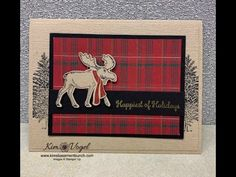 In this video I demonstrate how to use create a fun holiday card using the Merry Moose bundle. I love how this card turned out paired with the wrapped in pla. Stamped Christmas Cards, Stampin Up Christmas, Xmas Cards, Handmade Christmas, Holiday Cards, Christmas Moose, Moose Hunting, Pheasant Hunting, Turkey Hunting