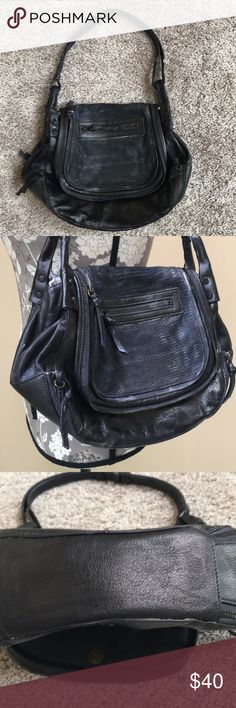 0822399ec76a Joelle Hawkins Leather Handbag Beautiful Joelle Hawkins Leather Shoulder  Purse. Distressed leather on front.