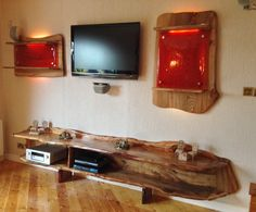 Live edge Elm with feature resin panels and resin inlays. Hand made by Green Tree Furniture. Glasgow. Prices on request.