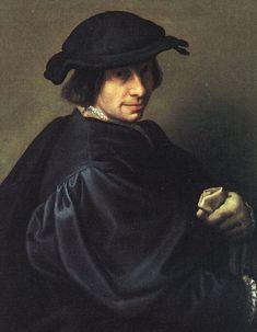 Giulio Campi (1508-1573).- Retrato de su padre, el pintor Galeazzo Campi. Uffizi, Florencia.